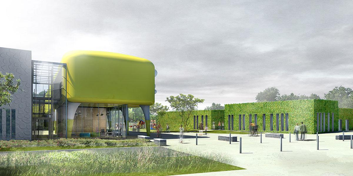 groupe scolaire et cr che de la pelousi re coco architecturecoco architecture. Black Bedroom Furniture Sets. Home Design Ideas