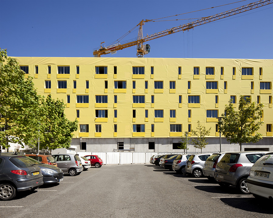 Avancement du chantier des 60 logements sociaux de for Bordeaux logement
